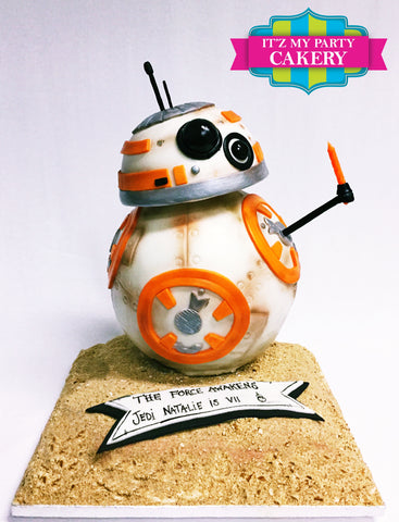 BB8 Star Wars Cake Milwaukee