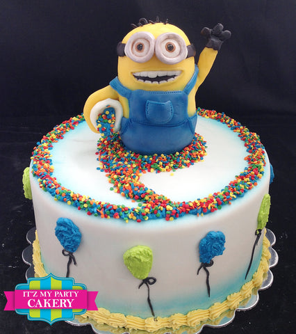 Minion Balloons Cake Milwaukee