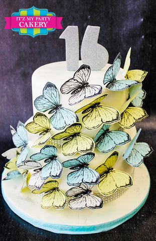 Butterflies Cake Milwaukee