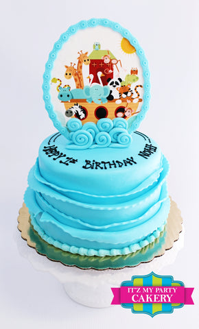 Noah's Ark Animals Cake Milwaukee