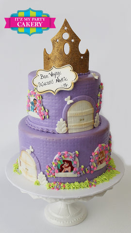 Purple Princess Castle Cake Milwaukee