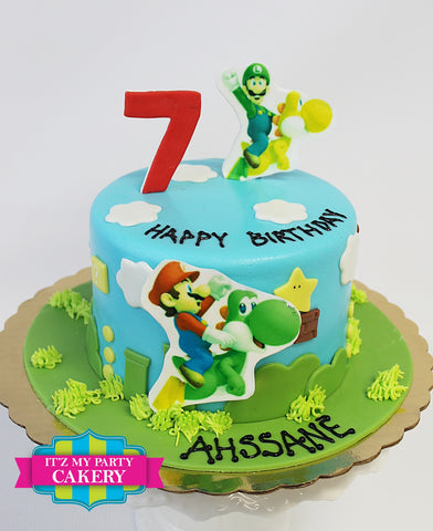 Mario and Luigi Cake Milwaukee
