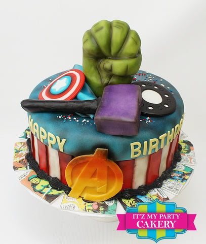 Avengers, super hero, hero, Hulk, Captain America, Thor, Cake Milwaukee
