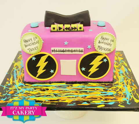 Retro Boom Box Cake Milwaukee