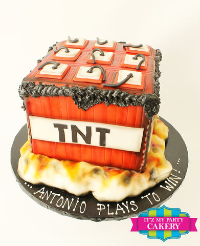 TNT Minecraft Cake Milwaukee