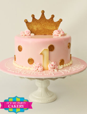 Simple Princess Dots Cake Milwaukee