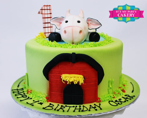 Plush Toy Cow Barn Farm Cake Milwaukee