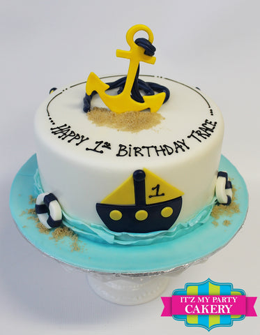 Anchor Sail Boat Cake Milwaukee