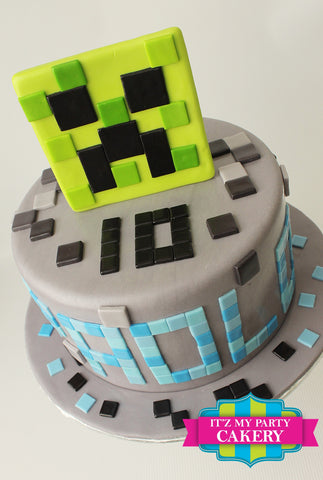 Minecraft Square Cake Milwaukee