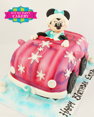Frozen Minnie Car Cake Milwaukee