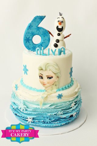 Frozen Olaf Elsa Cake Milwaukee