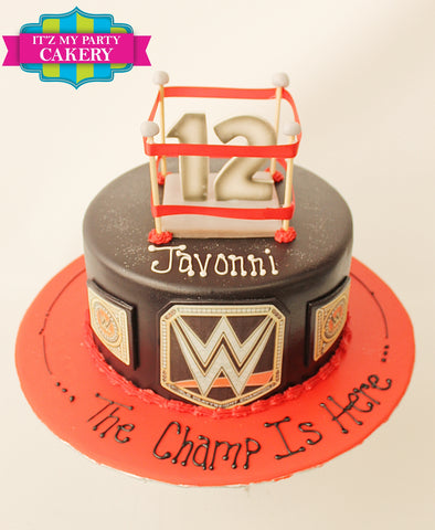 WWE Wrestling Cake Milwaukee