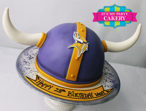 Vikings Helmet Cake Milwaukee