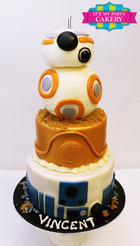 Star Wars R2D2 C3PO BB8 Cake Milwaukee