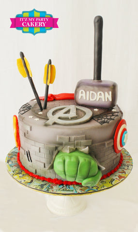 Avengers Double Arrow Cake Milwaukee