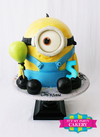 Minion Holding Balloon Cake Milwaukee