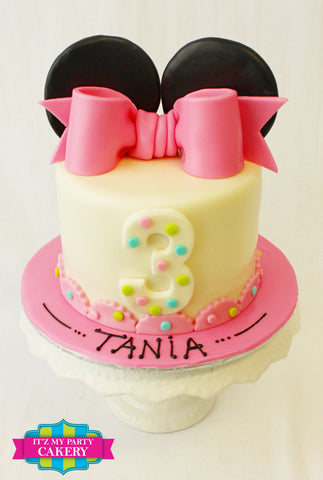 Minnie Mouse Cake, Minnie Birthday cakes, Girl Cakes