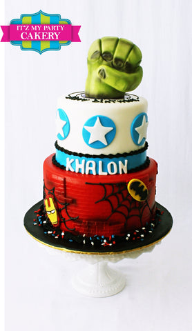 Superhero Birthday Cakes, Super Hero, Cakes, Hulk, Captain America, Spider man, Iron Man, Batman