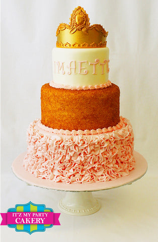 Princess Cakes, Pink gold cakes, Princess Cakes Milwaukee, Gold Sparkle Cakes,