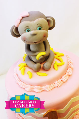 Monkey Cake Topper, Girl Monkey