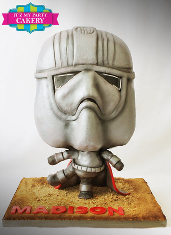 Chibi cake, Captain Phasma, Star Wars, Kids Cakes, Sculpted Cakes