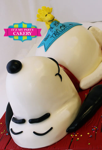 Snoopy & Woodstock, Sculpted Cake, Birthday Cake