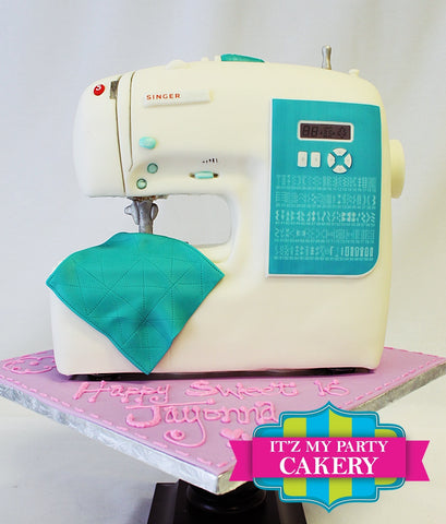 Sewing Machine, Sculpted Cakes, Sewing, Singer