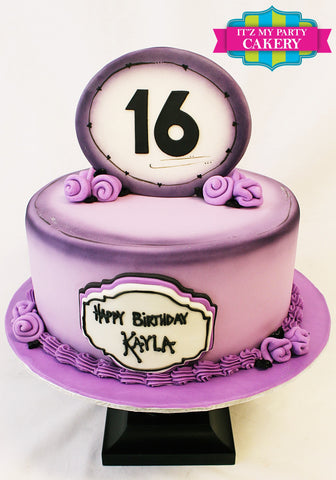 Sweet 16, Purple Cake, Purple Flowers, Simple Cakes