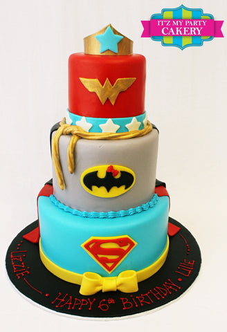 Girl Super Hero, Super Hero Birthday Cakes, Birthday Cakes, Wonder Woman Cakes