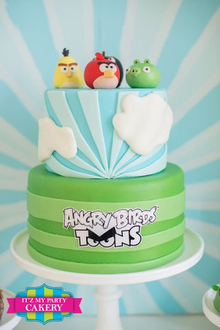 Angry Birds Cake Milwaukee