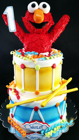 Elmo Drum Cake Milwaukee