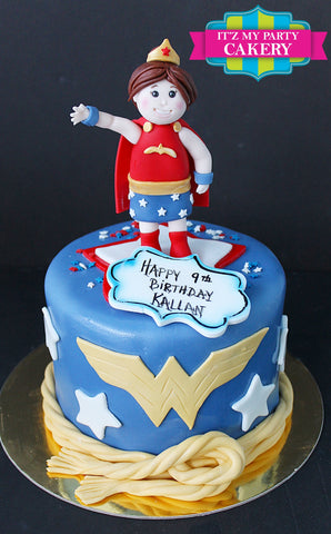 Wonder Woman Cake Milwaukee