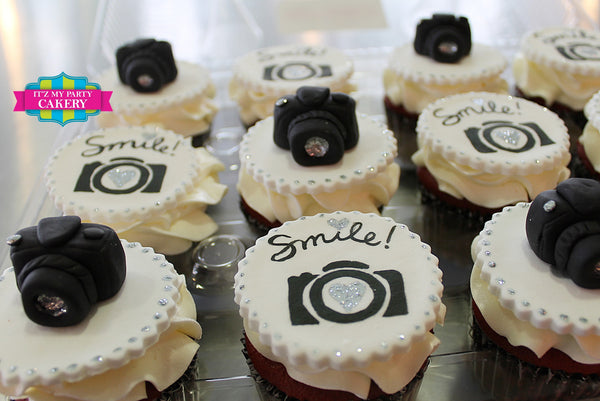 Camera Custom Cupcakes - It'z My Party Cakery