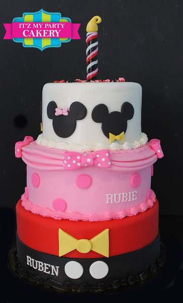 Mickey Minnie Cake - It'z My Party Cakery