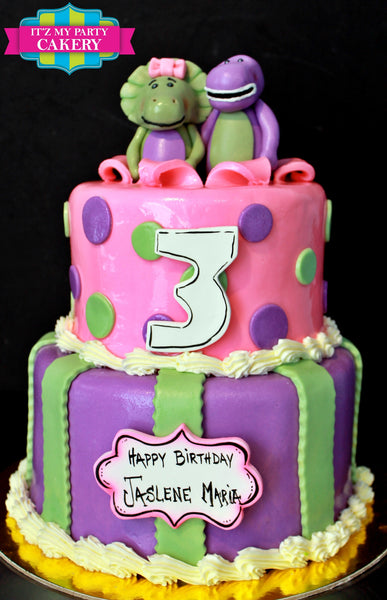 Barney and Baby bop Cake - It'z My Party Cakery - 1