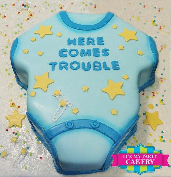 Baby Onesie Sculpted Cake - It'z My Party Cakery
