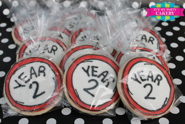 Dr. Seuss Year 1 Year 2 Cookies - It'z My Party Cakery - 1