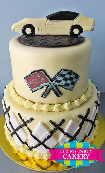 Yellow Corvette Cake