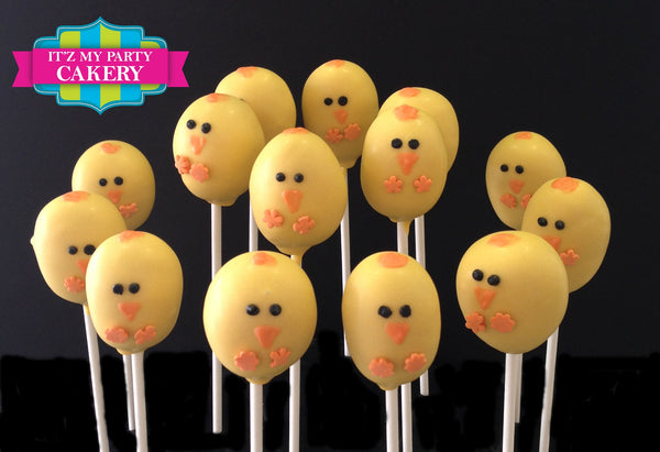 Easter Chick Cake pops - It'z My Party Cakery