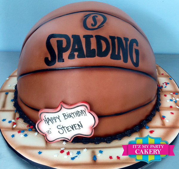 Basketball Half Cake - It'z My Party Cakery