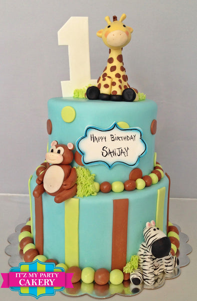 Jungle Giraffe Cake - It'z My Party Cakery