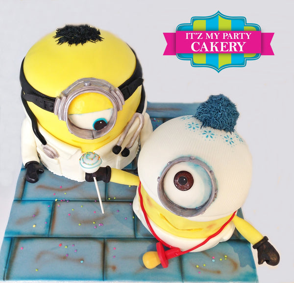 Minion Doctor & Minion Baby Cake - It'z My Party Cakery - 1