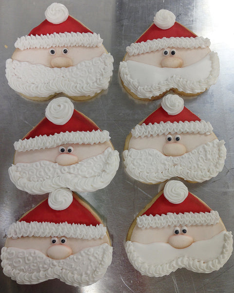 Santa Face Cookies - It'z My Party Cakery