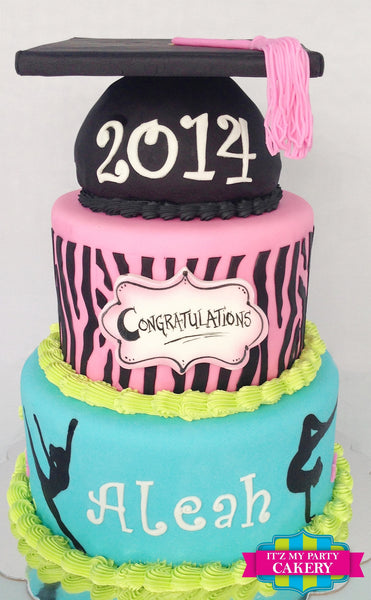 Gymnast Graduation Cake - It'z My Party Cakery