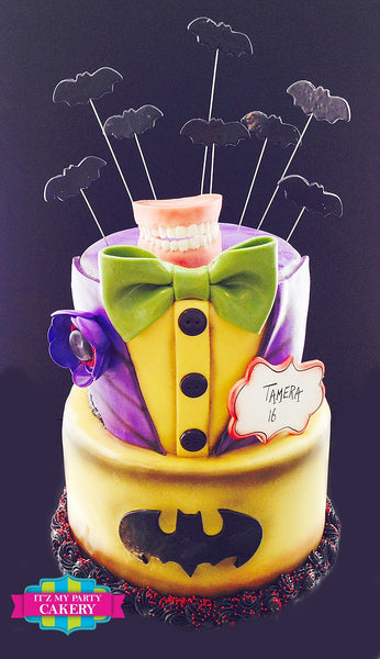 Joker Batman Cake - It'z My Party Cakery