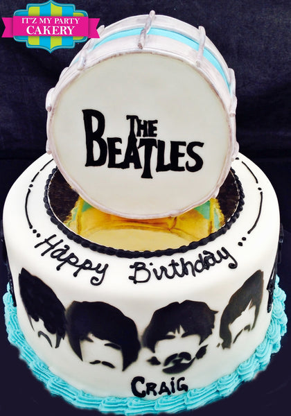Beatles Tribute Cake - It'z My Party Cakery