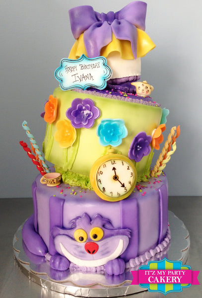 Alice In Wonderland Cake - It'z My Party Cakery