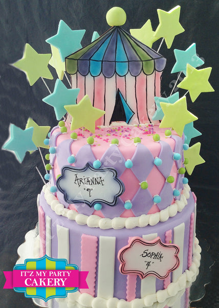 Circus Tent Cake - It'z My Party Cakery