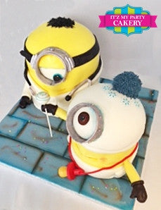 Minion Doctor & Minion Baby Cake - It'z My Party Cakery - 2
