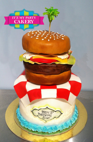 Cheeseburger Cake - It'z My Party Cakery